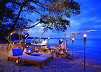 The beach in the evening at the Sarojin, Khao Lak