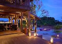Dusk in the bar at Six Senses Hideaway at Yao Noi, Koh Yao
