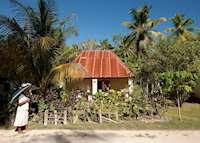 Village on Denis Island