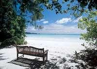 Beach at Les Villas D'Or, Praslin