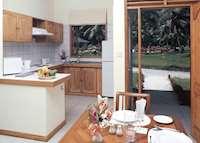 Kitchen of single apartment, Les Villas D'Or, Praslin