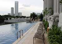 Outdoor Pool at The Fullerton Hotel, Singapore