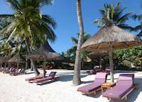 Sun Loungers on the Beach, Prince Maurice, Mauritius