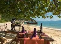 Private beach dining, Six Senses Ninh Van Bay, Nha Trang