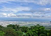 The view across Chiang Mai from Doi Suthep, Thailand