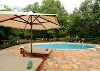 The pool at Selous Kulinda Camp