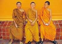 Smiling Monks, Bangkok, Thailand
