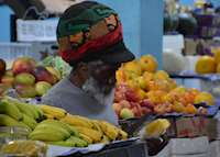 Fruit Vendor at Bridgetown Market