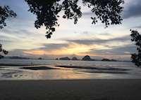Sunset view on Tubkaak beach