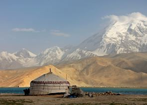 Karakul Lake and Mt Muztagata, Kashgar