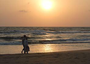 Sunset at the beach of Bentota