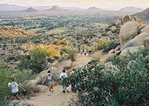 Walking up Pinnacle Peak, Scottsdale