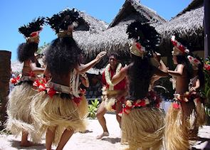 Local dancers on Moorea