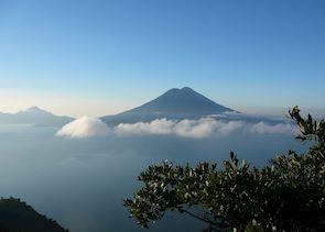 Volcan Toliman and Atitlan, Lake Atitlan, Guatemala