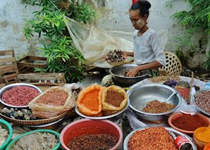 Spices at the Railway Market, Mandalay, Burma (Myanmar)