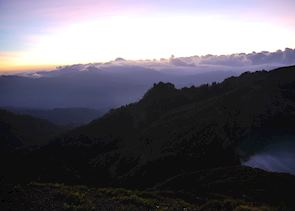 Sunrise over Kelimutu, Flores