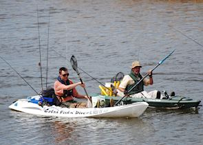 Fishing and canoeing on the Bartram Canoe Trail, Tensaw Delta, Mobile Bay