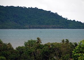 View of Rabbit Island from Kep, Cambodia