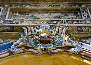 Brightly coloured dragon, Hue Vietnam