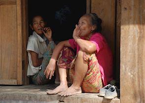 Local ladies in minority villages, Northern Laos