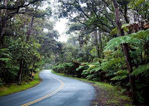 Driving through Hawaii (Big Island)