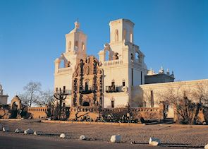 The Mission of San Xavier del Bac near Tucson