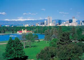 City Park and downtown Denver