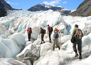 Walking in the glaciers, New Zealand