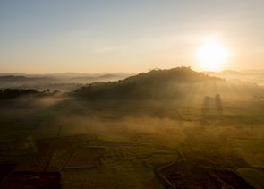 Dawn flight over Ngapali