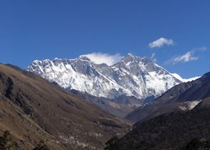 View from Tangboche to Everest