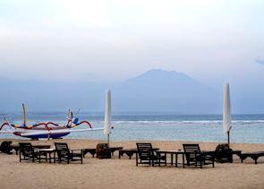 Beach at dusk, Sanur