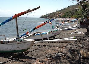 Boats at Amed, Indonesia