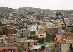 View from the terrace- Manoir Atkinson, Valparaiso