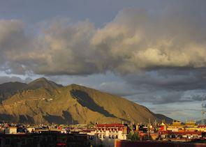 Sunset over Lhasa