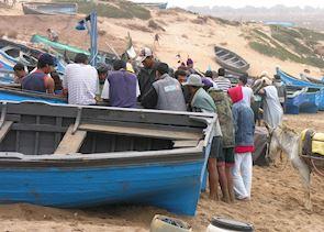 Tinfnite fishermen, Morocco
