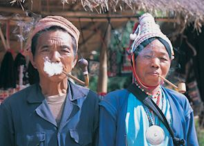 Couple from the Akha tribe, Chiang Rai