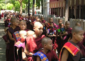 Monks' procession at Amarapura