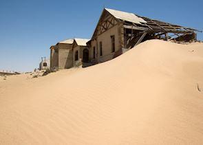 The ghost town at Kolmanskop