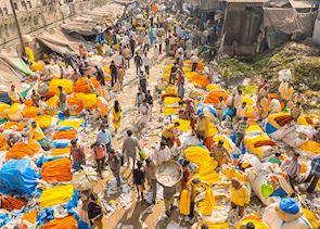 Calcutta flower market