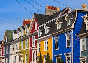 Clapboard houses, St John's