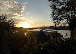 Minga Lodge sunset