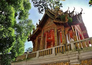 Small temple near to Doi Suthep, Chiang Mai, Thailand