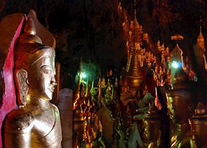 Over 8,000 Buddha statues cover every nook and cranny in the Pindaya Caves