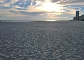 The beach at Gulf Shores, near Mobile