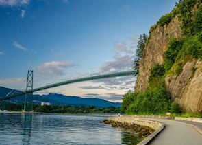 View of the Lions Gate Bridge from Stanley Park, Vancouver