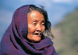 Gurung woman, Annapurna foothills