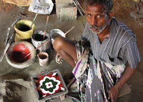 Athangudi Tile making - Chettinad, India