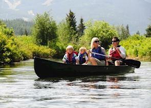 Canoeing on the River of Golden Dreams near Whistler