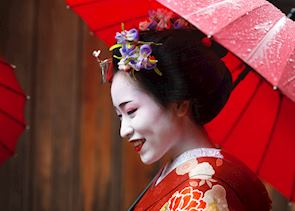 Maiko, or apprentice geisha, Kyoto