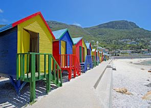 Colourful beach huts in Cape Town